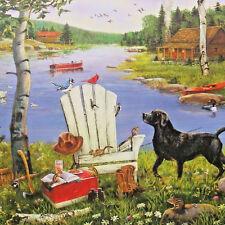 jigsaw puzzle 1000 pcs J Charles A Busy Day at the Lake karmin