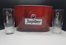Jupiler Bottle Cooler & 2 Branded Glasses, Ice Bucket, Belgian Beer