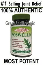 100% Authentic Boswellia Vegetarian Capsules for Joint/Knee/Wrist/Artritis Pain