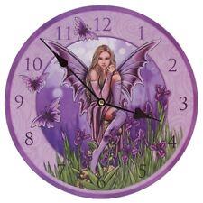 Bilderuhr Lila Elfe in der Natur Uhr Wanduhr Engel Fee Fantasy Gothic fairy