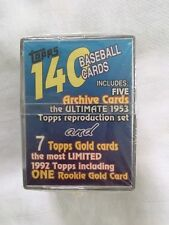 Topps Baseball Cards Unopened 140 Ultimate 1953 Reprod. Set One Rookie Gold 1992