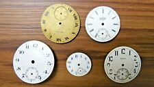 5 Vtg Pocket or Watch Faces Elgin Waltham Mixed Parts For Repair As Is