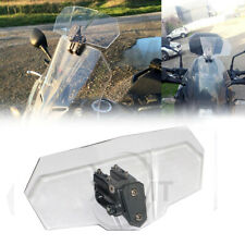 1PC Motor Clear Adjustable Clip On Windshield Extension Spoiler Wind Deflector