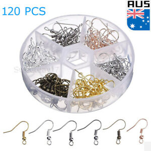 120X Earring Hooks Ear Wires French Hooks Hypoallergenic Stainless Steel