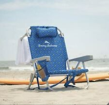 New Tommy Bahama, Beach Chair. Foldable, Backpack Deck Chair, Lounger - Blue