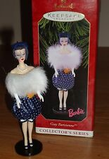 Hallmark BARBIE Gay Parisienne Christmas Ornament 1999 w/Box