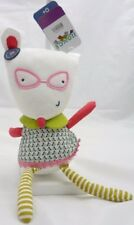 JJOVCE doudou souris à lunettes tissu avec grelot 30 cm environ