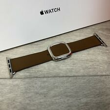 Genuine Apple watch modern buckle leather strap - Brown 38/40mm Small