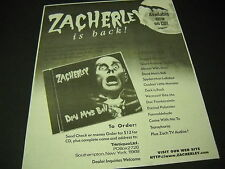 Zacherley is back with Dead Man's Ball 1996 Promo Display Ad mint condition