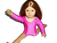 "Hot Pink Leotard 18"" doll clothes fit American Girl Dance Ballet Gymnastics"
