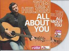 TOM HELSEN - All about you CD SINGLE 2TR CARDSLEEVE 2007 BELGIUM