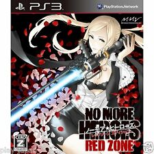 New PS3 No More Heroes Red Zone Edition japan import