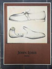 AFFICHE /  LITHOGRAPHIE.CHAUSSURES JOHN LOBB.PARIS1980.FORMAT : 70 X 90.NEUVE.