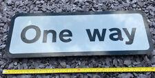 ONE WAY  Metal Street Sign Used