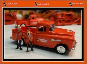 1/43 1955 Chevrolet Stepside Pick Up Truck + 2 Custom Figs - in ALLIS Colors !!