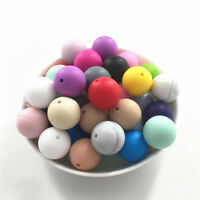 19MM Round Silicone Teething Beads Baby Chewable Beads Teether Jewelry Making