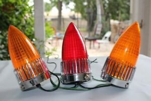 59 Cadillac Bullet Rocket Custom Motorcyle Chopper Bobber Harley Tail Light Set