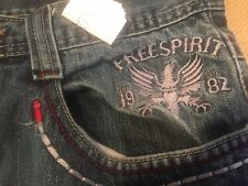 "Imperious 34     30.5"" cotton Men's Jeans Bootcut Free Spirit 1982 medium good"