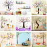 Nursery Removable Owls Tree Wall Stickers For Kids Room Home Decor HFUS