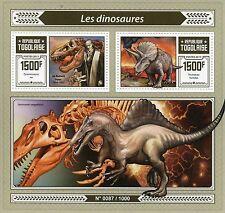 Togo 2015 MNH Dinosaurs 1v S/S Tyrannosaurus rex Triceratops Richard Owen