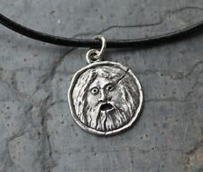 Bocca Della Verita Leather Necklace - Ancient Roman Italy Charm- mouth of truth