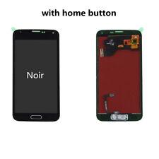 Vitre tactile Noir et écran LCD Home Button pour Samsung Galaxy S5 I9600 G900F