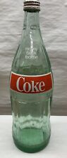 Coca Cola - COKE 1 Liter 32 oz Vintage Glass Bottle Home Decor Glass Soda Bottle