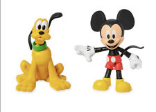 Disney Toybox Mickey Mouse and Pluto Poseable Action Figure Set NEW