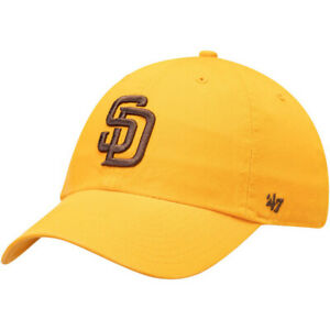 '47 Brand MLB SD San Diego Padres Clean Up Gold Cooperstown Adjustable Hat Cap