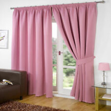 Rideaux et cantonnières roses en polyester pour la salle de bain