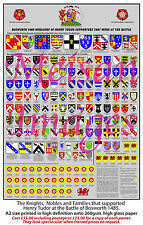 Historical Knights & Nobles Henry Tudor Battle of Bosworth 1485 Poster A2
