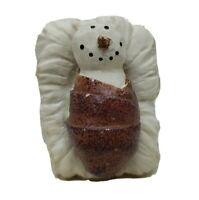Baby Jesus Child Flurryville Collection Snowman Christmas Nativity Figurine