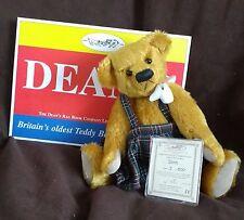DEANS MOHAIR TEDDY BEAR - DORIS - TARTAN SKIRT -  NO 3 OF 500 - NEW WITH TAGS