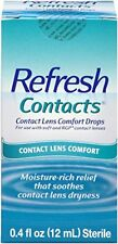 2 Pack - Refresh Contacts Contact Lens Comfort Drops  0.4 fl oz (12 ml) Each
