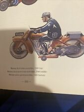 Mettoy Tin Plate Wind Up Police Motorcycle Rare 1949