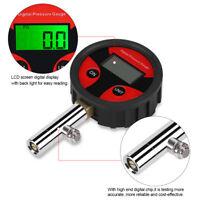 0~200PSI LCD Anzeige Digital Luftdruckprüfer Reifendruck Manometer Messgerät