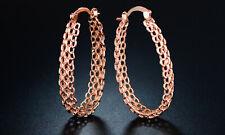 Sevil 18K Rose Gold Plated Chain-Link Hoop Earrings