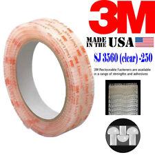 """3M SJ3560 Width 1"""" x 150'Ft x 2 Rolls Dual Lock Tape Clear Reclosable Fastener"""