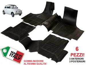 Tappeti Tappetini su Misura FIAT 500 D-F-L (Anni '70) Set Completo in Gomma