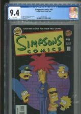 """SIMPSONS COMICS 46 """"TOGETHER AGAIN FOR THEIR FIRST CRIME"""" CGC NEAR MINT 9.4"""