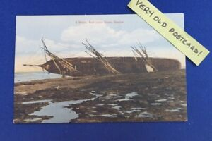 Very Old Undated RP Postcard Shipwreck 'Wreck Golf Links Shore DUNBAR'  SCOTLAND