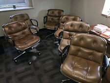 Mid-Century Charles Pollock office chairs by Knoll