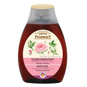 Green Pharmacy Bath Oil Sandalwood Neroli Rose Relaxes Stress Relieves 250ml