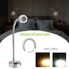 12V 3W Interior LED Spot Reading Light Switch Camper Caravan Bedside Wall 6000K
