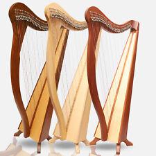 Muzikkon 36 Saiten Ard Ri Palisanderholz & Mahagoni Harfe, Keltisch Irische Bag