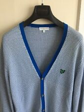Mens Lyle & Scott Blue & White Button Up Cardigan Large Free Postage!