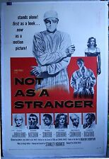 Not a Stranger 1sh '55 linen-backed 27 x 41 Robert Mitchum hospital melodrama