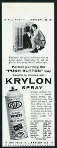 1957 Krylon spray paint can man painting radiator photo vintage print ad