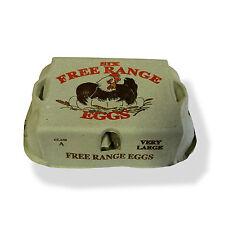 PRINTED 'CHICKEN' FREE RANGE EGG BOXES/CARTONS LARGE/VERY LARGE 65 HALF DOZEN