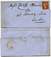 PENNY rosso lcp.14 COVER 1856... COLORE VERDE OLIVA NUMERALE DI whitchurch